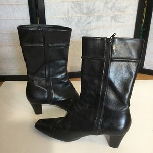 Cole Haan all leather black boots 8M